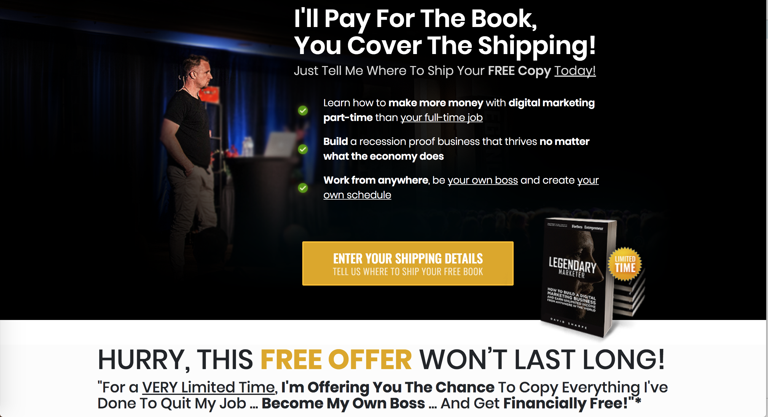 Legendary Marketer Internet Marketing Program  Veterans Coupon